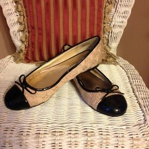 Etienne Aigner Shoes - Etienne Aigner flat fabric shoes.